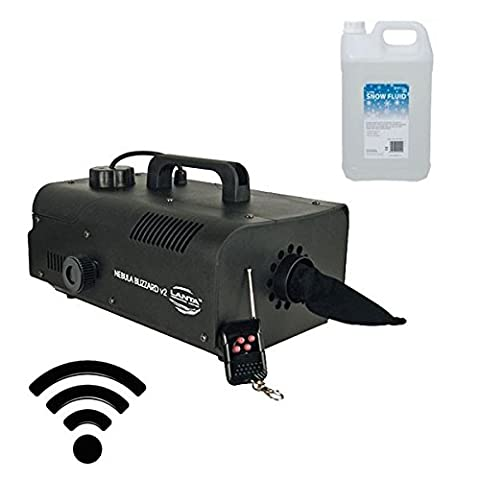 Snow Machine with Wireless Remote and 5L of Snow Fluid