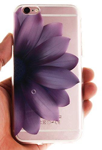 Nnopbeclik Silikon Transparent Hülle Für Apple Iphone 6 / 6S, Ultra Slim Weich TPU Cover Case Neu Design Super Durchsichtig Hohl Luxus Bling Blume Case Etui, Schutzhülle Muster Glänzend Glitzer Strass #29