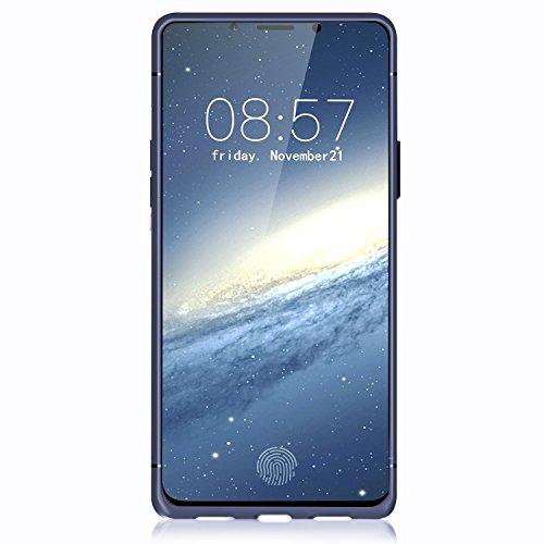 iPhone X Handycover, MOONMINI Ultra Dünn Soft TPU Silicone Stoßfest Slim Fit Handy Tasche Case Anti-Kratzer Schutzschale Anti-Drop Full Body Schutzhülle für iPhone X Schwarz Blau