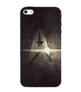 For Apple iPhone 5S metal icon, icon, grey background Designer Printed High Quality Smooth Matte Protective Mobile Case Back Pouch Cover by APEX ELEGANT