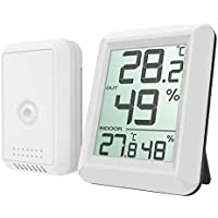 Thermomètre numérique intérieur/extérieur sans fil pour thermomètre, mètre électronique d'humidité de la température avec affichage LCD facile à lire