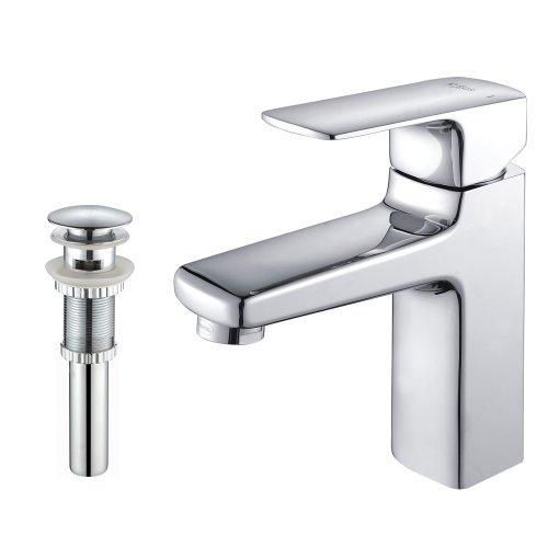 Pop-up-drain (Kraus kef-15501-pu11ch Virtus Hebel Basin Badezimmer Wasserhahn und Pop-Up-Drain mit Überlauf chrom)