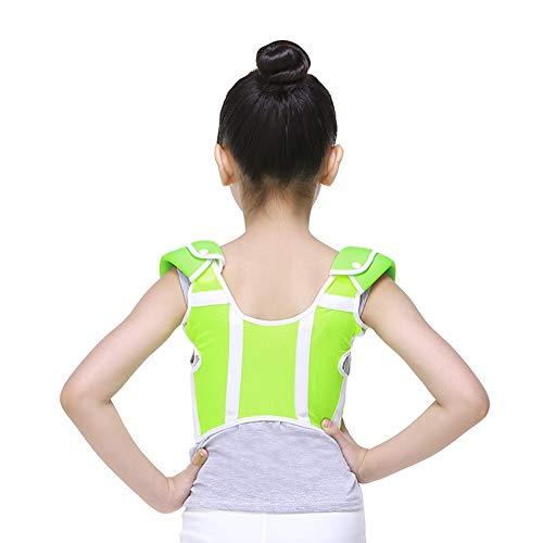 Summer Breathable Back Support passt die Kinder-Komfort-Post-Korrektur an-Grün,M