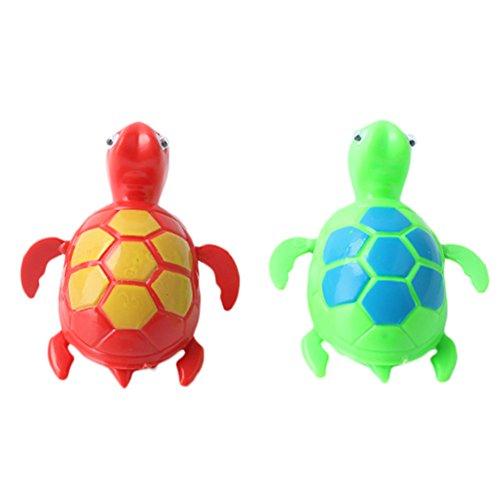 2Pcs Baby Kinder Turtles Badespielzeug Badewannenspielzeug Bad Zeit Wasserspielzeug zufällige Farbe