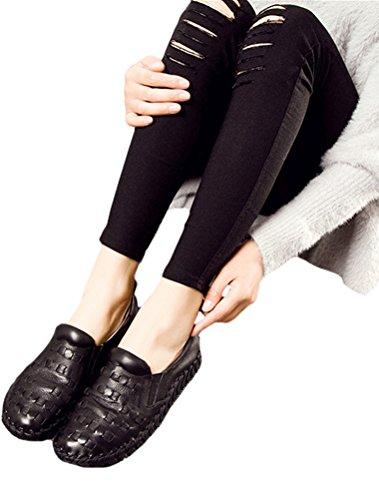 Vogstyle Femmes Monochrome Espadrilles Chaussures Sandales À Talons Bas Simple Décontracté Chaussures Style 1 Noir