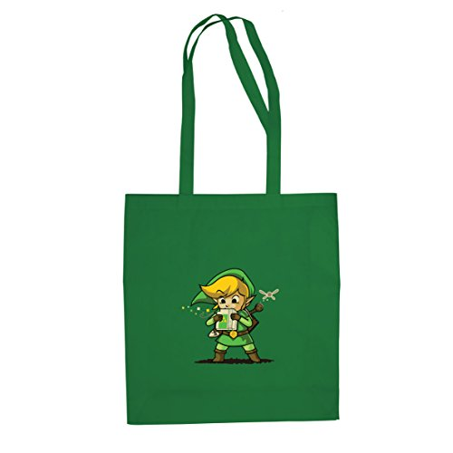 Planet Nerd Cartridge Link -Stofftasche/Beutel, Farbe: grün (Link Cosplay Kostüm Ocarina Of Time)