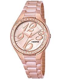 Calypso  watches K5637 - Reloj de cuarzo para mujer, correa de plástico color oro rosa