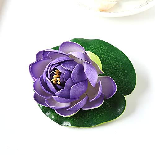 Hongfei Gefälschte Pflanzen Dekor Keine-Pflege Falsches Gras with Seerose Lotus Fischteichs Dekoration Multicolor (Tropische Seerosen)