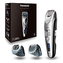 Panasonic ER-SB60-S803 Regolabarba di Precisione Ultrarapido con Accessorio Dettagli, Taglio 0,5-10 mm, Silver