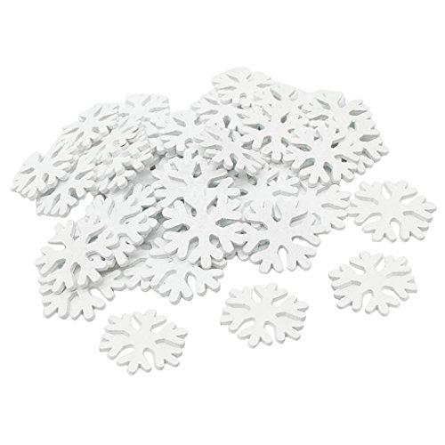 Baoblaze 100 Stück Schneeflocken Schnee Weihnachtssterne Dekoration Fensterdeko Weihnachtsschmuck Zum Hängen formbar Tischdeko/Weihnachtsdeko