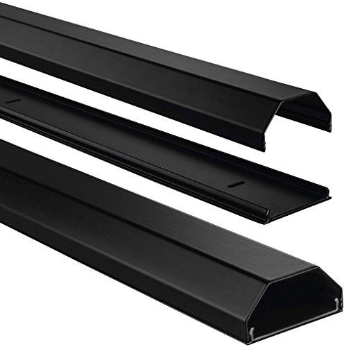 Preisvergleich Produktbild Hama ALU Kabelkanal (eckig, für bis zu 8 Kabel, 110 x 5 x 2,6 cm LxBxH, Aluminium) schwarz