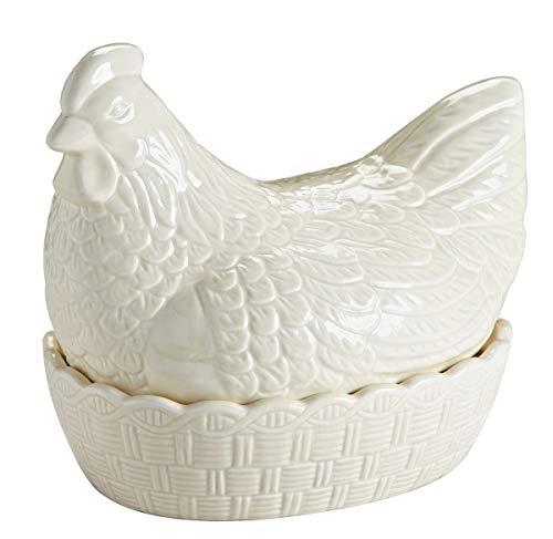 Mason Cash 2010019 Großes, cremefarbenes Keramik-Huhn zur Aufbewahrung von  Eiern