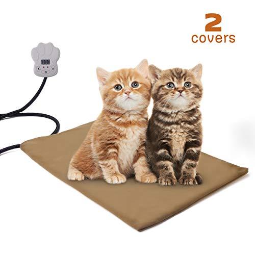 Qomolo Almohadilla de Calefacción para Mascotas para Cama para Perros/Gatos, Colchoneta de...