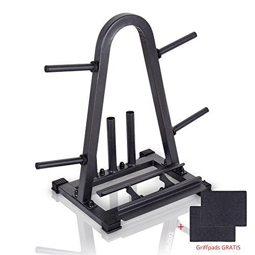 PHL Hantelständer für Gewichte Kurzhanteln und Hantelstangen P40-R07