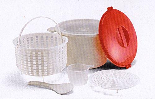 12Cup Mikrowelle Reis/Pasta Dampfgarer Topf–dim-sum/Gemüse Steamer Korb + Messbecher + Servierlöffel