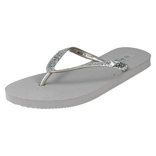 Spot On, Ciabatte da spiaggia donna, Argento (argento), 36