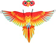 Mocure Bird Wings Peacock Cape and Mask Cosplay Costume Dress Up for Kids Boys Girls