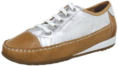 ara 12-30833-10, Chaussures basses femme Beige (Saddle/Silber)