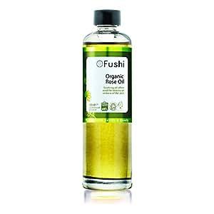 Fushi Rose Petal Organic Oil Infused in Sweet Golden Almond Oil 100ml Extra Virgin, Biodynamic Harvested Cold Pressed