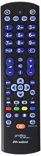 Meliconi 807180, pratico digital for sky plus, telecomando universale 4-in-1, con guscio