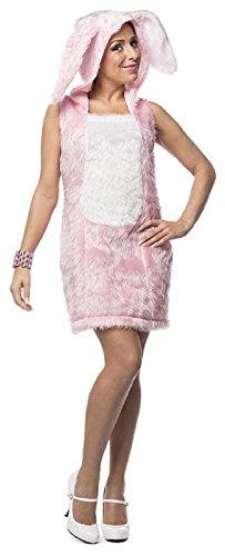(L3201005-46 Damen Hasen-Kleid Hasen-Kostüm Plüsch Gr.46)