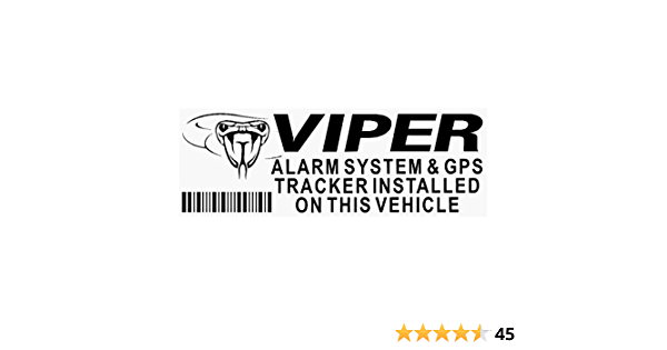 Platinum Place 5 X Black Viper Alarm And Gps Tracking Device Security Window Stickers 87x30mm Car Van Auto