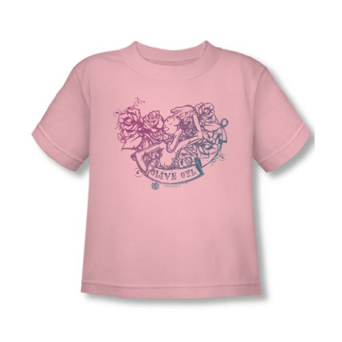 (Popeye - Kleinkind Olive Oyl Tattoo T-Shirt in rosa, 4T, Pink)