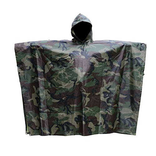 Aoneky Rain Poncho Waterproof Ripstop Hooded for Festivals, Fishing, Mountain, Hiking, Cycling, Wheelchair, Backpack Walkers and Use with Emergency Grommet...
