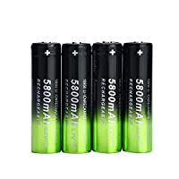 ZUILEE 4X 5800mAh Li-ion 18650 3.7V Rechargeable Battery + 2X Smart Charger 18650 battery + charger (2 sets) skywolfeye