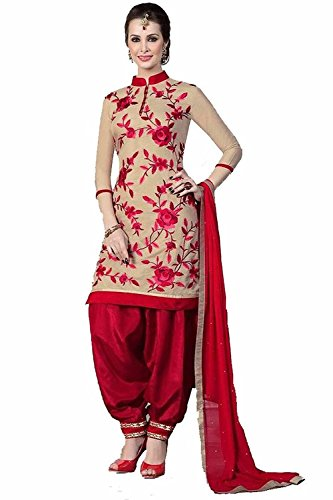 Fashion Galleria Women's Printed Unstitched Regular Wear salwar suits for women Dress Material (salwarsuits_dresses_541) (FG_DM_Blue)