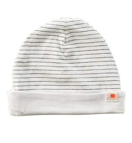 Little Label Reversible Baby Mütze Bio-Baumwolle/Anthracite Stripe/Unisex Reversible Stripe Beanie