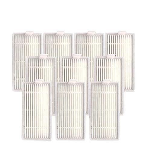 Ilife Saugroboter Ersatzteile Zubehör, 10 Stück Hepa Filter Ersatz Allergie Hepa Filter Set für Ilife V50 V5SPRO V5S Robot Sweeper
