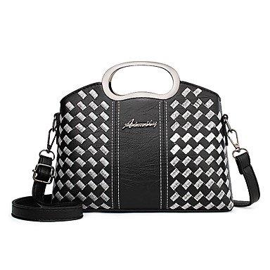 Damenmode Faux/PU Leder Schulter Messenger Crossbody Mini Bag Black