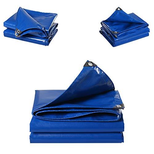 WFDLIU Blau Premium Gewebeplane Abdeckplane Schutzplane Bootsplane wasserdichte Plane 0,45 Mm Dicke Sonnenschutz/Vier Jahreszeiten Universal/Hochleistungsplane, 500 G / M2,5X8M(16.4X26.24ft) -