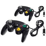 2x Smartfox Classic Controller Gamepad Joypad Joystick für Nintendo GameCube und Nintendo Wii (1. Generation RVL-001) mit Vibrationseffekt in schwarz