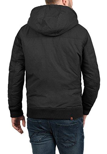 BLEND Ciro Herren Übergangsjacke leicht gefütterte Jacke mit Kapuze und zahlreichen Taschen aus hochwertigem Material Black (70155)