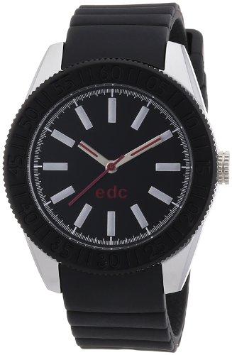 edc by Esprit vanity wheel A.EE101042002 - Reloj analógico de cuarzo para mujer, correa de plástico color negro