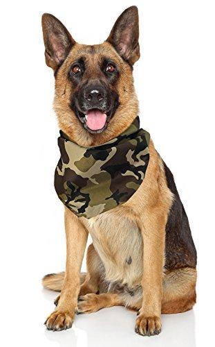Costume Adventure Hunde-Bandana Camouflage Bandana für Hunde Camo Tarnung Bandana Hunde-Large Camo Hunde-Bandana Hunde-Bandanas Camo Grün Hunde-Bandana Einheitsgröße Camo -