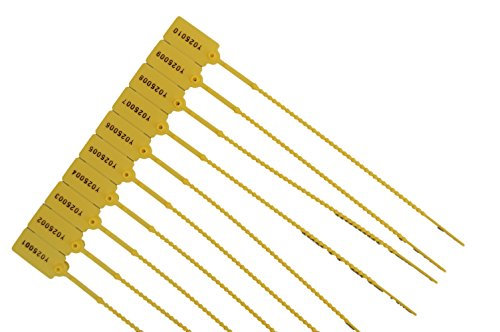 100 x Sicherheitsplomben Plomben Gelb Durchziehplomben -