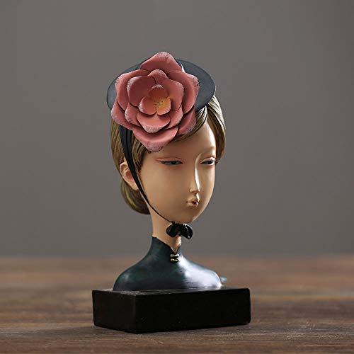 QWERWEFR Creativo Estilo Retro niño niña Escultura de Resina Figuras artísticas únicas de Resina Muebles para el hogar