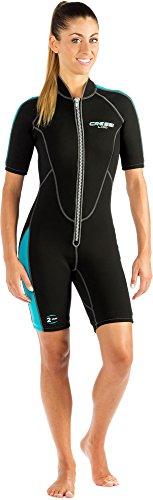Cressi Damen Neopren Schwimmanzug Shorty Lido Lady, schwarz/blau, XS/1, LV457001
