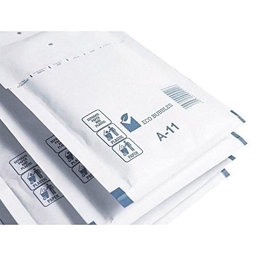 200 x Luftpolstertaschen Versandtaschen Größe A/1 (120 x 175 mm) DIN A6 - Weiss