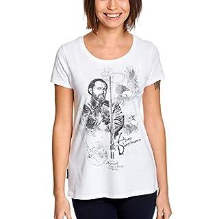 Elbenwald Phantastische Tierwesen Damen T-Shirt Albus Dumbledore Sketch Baumwolle weiß - L
