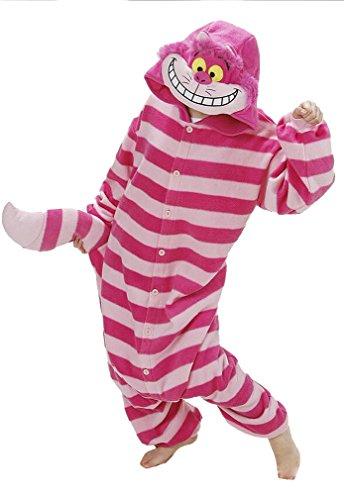 CTHEE-Novedad-Adulto-Unisex-Polar-Dormir-Animal-Kigurumi-Pijama-Lounge-Usar-Gato-Cosplay-Disfraz-Cheshire