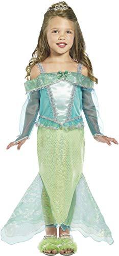 Fancy Dress World Mädchen Meerjungfrau-Kostüm Kleid und Tiara 36165 24101 - ideal für Welttag Schulveranstaltungen und Motto-Party Spaß (Kleinkinder Für Kostüm Ariel)