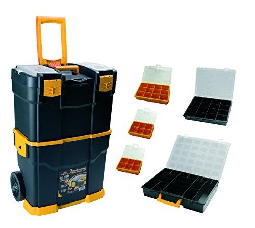 Art Plast 6700R+3060 Fahrbarer Werkzeugkoffer aus Kunststoff mit Set aus passenden Werkzeugkoffern,...