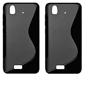 S Line Grip Back Case Cover for Lava Iris X1 Atom S - Value for Money Pack of 2