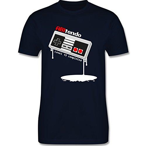 Abi & Abschluss - ABItendo - Level 13 completed - Herren Premium T-Shirt Navy Blau