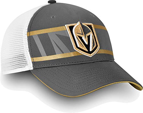 Football Fanatics NHL Herren Vegas Golden Knights Second Season Trucker Hut (Einheitsgröße) Grau Pro Trucker Hut