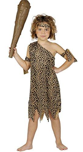 Höhlenmensch - Kostüm für Kinder Gr. 98 - 146, - Steinzeit Kostüm Kinder